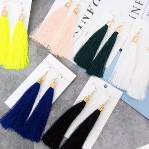Jewelry - Long Tassel Earrings-various colors